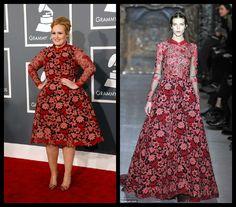 Adele in Valentino #inspiration #music #love #fashion #adele #valentino #dress