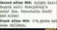 Emo Band Memes, Mcr Memes, Music Memes, Emo Bands, Stupid Funny Memes, Music Quotes, Music Bands, My Chemical Romance, Music Stuff