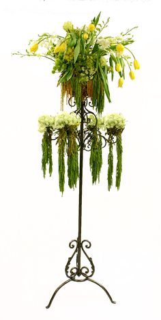 5 Foot Metal Flower Display 5 Tier Flower Stand $100. I could plant succulents in it!!