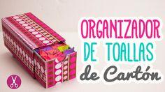 Organizador de Toallas Sanitarias | Hecho De Cartón ♥ | Cartonaje | Catwalk