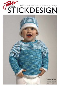 Cute baby sweater with matching hat.