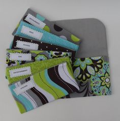 BUDGET ENVELOPES SYSTEM Cash Envelopes & Clutch by CitrusDesigns, $34.99