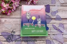 see-saw pull tab card Slider Cards, Interactive Cards, Seesaw, Lawn Fawn, Sliders, Cardmaking, Happy Birthday, Paper Crafts, Type
