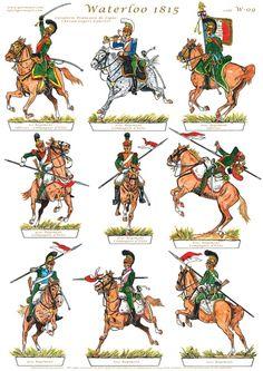 French Lancers of the Line, Waterloo.  Gorini Art - Soldatini di Carta