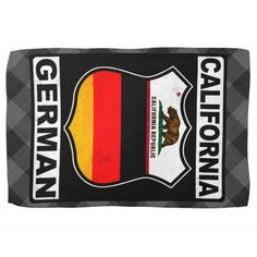 #California #German American Kitchen Towel, available to purchase at #Zazzle #GermanAmerican #Ancestry #Europe #GermanFlag