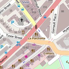 OpenStreetMap. Crowdsourcing mapping project. Creates highly personalised maps, here includes pubs, restaurants, supermarkets, etc.