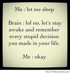 Let me sleep please me vs my brain