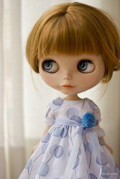 pom pom - blue bubbles by JennWrenn, via Flickr