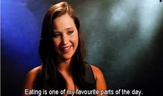jennifer lawrence loves eating