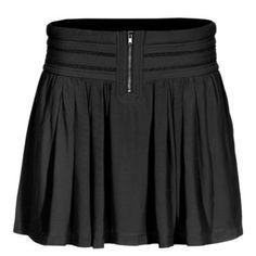IRO Larry Black Ruffled rayon skirt