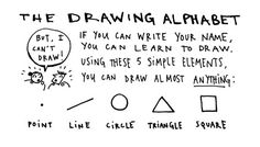 The Drawing Alpabet - If you can write your name you can learn to draw - Austin Kleon