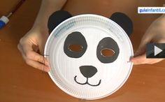 Por tus manos - Careta de oso panda para niños en Carnaval