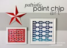 Patriotic Paint Chip Art | Positively Splendid {Crafts, Sewing, Recipes and Home Decor}