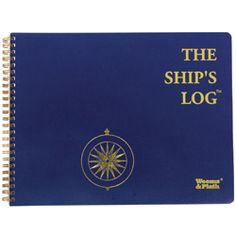 Flexible, diary format to record ship's activities. Includes guest register, vessel specification, serial number list pages, rules of the road, weather reference and radio procedures.