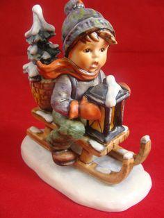 """Goebel Hummel 396 Figurine """"Ride into Christmas"""" TMK 5"""