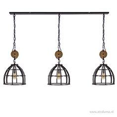 Grote industriele hanglamp korf 3-lichts Ceiling Lights, Lighting, Pendant, Home Decor, Homemade Home Decor, Ceiling Light Fixtures, Trailers, Ceiling Lamp, Pendants