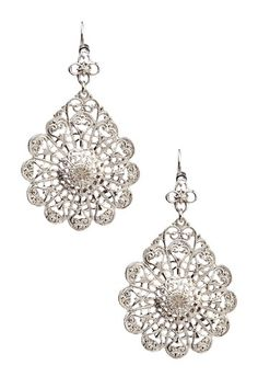 Boutique by 1928 Crystal Filigree Drop Earrings #oldhollywoodglamour #wedding