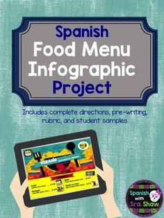 Tired of seeing your students make the same old menus? This comprehensive project guides your students to research different foods in a Spanish-speaking country and create an impressive infographic menu.This product includes:A complete scenario, overview, requirements and how-to for students A graphic organizer to help students collect and categorize researchSamples of actual student projects so your class can visualize a final productA grading rubric based on ACTFL performance…
