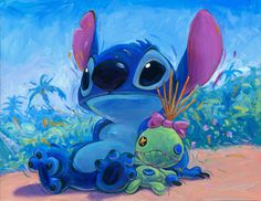 *STITCH ~ Lilo and Stitch....Hanging with Scrump