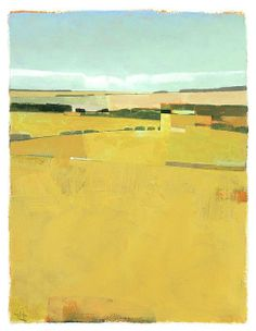 Posterazzi Fence Lines and Fields Canvas Art - Greg Hargreaves x Abstract Landscape Painting, Landscape Art, Landscape Paintings, Abstract Art, Modern Art, Contemporary Art, Wow Art, Sgraffito, Painting Inspiration