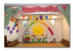 Оформление выпускного воздушными шарами в детском саду