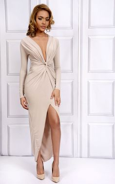 7d9955b14b Bianca Nude Front Knot Dress, Nude Dress, Fashion Brands, Luxury Fashion,  Dress