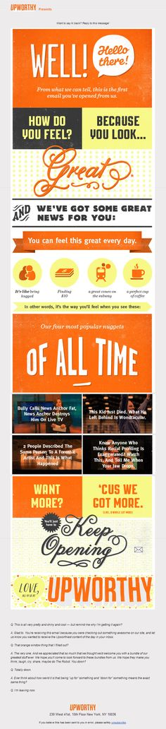 Upworthy Welcome Email - The Best of Email