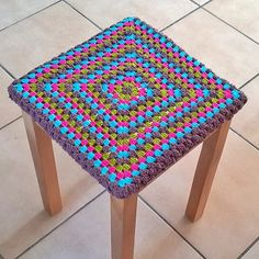Housse de tabouret 😉❤ Direction ... la prochaine réalisation 😘❤ #crochet #créations #customisation #houssetabouret #faitmain #accessoiresdeco #homedeco #breizhcrocheteuse #custom #handmade #happyhookers #crochetaddict #crochetlovers #crochetloversofinstagram