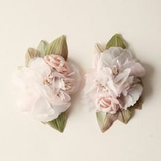 pink flower hair clip 'PARADISE' vintage millinery by whichgoose, $30.00