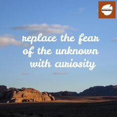 Replace the fear of the unknown with curiosity. Share your ideas with us #traveltuesday
