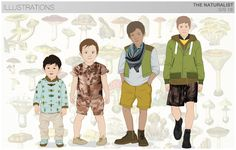 s/s boys trend theme, the naturalist, flats & illustrations