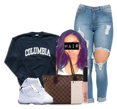 """""""Untitled #432"""" by princess-miyah ❤ liked on Polyvore featuring Columbia, Louis Vuitton, NARS Cosmetics and Black Apple"""