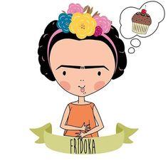 Frida Kahlo (Fridoka) Aquela vontade de comer doce... O que fazer? That desire to eat sweet ... What - nadjagds