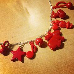 Happy Reds gumball charm bracelet