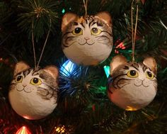 Such adorable Christmas ornaments! http://thestir.cafemom.com/home_garden/163475/7_oneofakind_gifts_for_cat?utm_source=pinterest