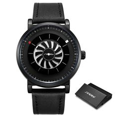 Buy Men Wristwatch Quartz New SINOBI Brand Design Fan Turning Dial Creative Watch Men Male Sports Leather Waterproof Clock Relogio at www.smilys-stores.com! Free shipping. 45 days money back guarantee. Jet Engine, Watches For Men, Men's Watches, Blue And Silver, Branding Design, Quartz, Clock, This Or That Questions, Creative