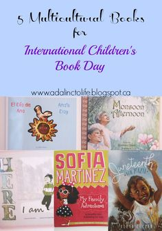 5 Books for International Children's Book Day that bring diverse books to children in a variety of topics.  Picture books and early chapter books.