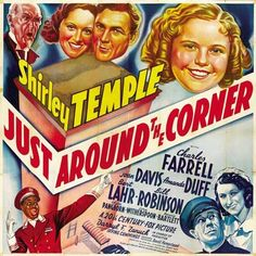 Just Around The Corner (1938) Color Version Plucky Penny Hale (Shirley Temple) is excited to return from boarding school to live with her widower dad (Charles Farrell), but when she learns that he's l