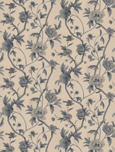 Flowering+Tree+,+a+feature+wallpaper+from+Zoffany,+featured+in+the+Trade+Routes+collection.
