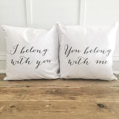 Love these pillows for wedding gifts! Cozy up your living space with our handmade linen pillow covers by So Vintage Chic! // sovintagechic.com