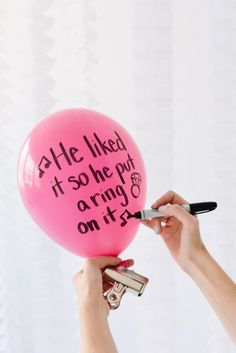 DIY Balloon Wishes for the Bride Step 1
