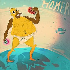 """""""Homer"""" by Axtor Axtor is a highly creative graphic artist with years of experience in high end illustration, graphic/web design, digital ph. Clever, Illustration Art, Web Design, Draw, Creative, Ph, Artist, Digital, Design Web"""