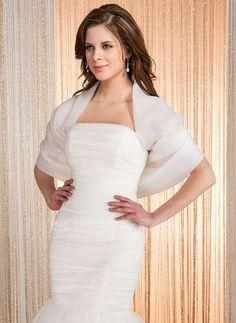 Wraps - $39.99 - Half-Sleeve Organza Wedding Wrap (013036973) http://jjshouse.com/Half-Sleeve-Organza-Wedding-Wrap-013036973-g36973