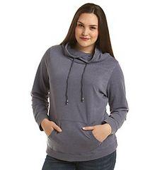 Ruff Hewn Plus Size Burnout Pullover - Indigo at www.carsons.com