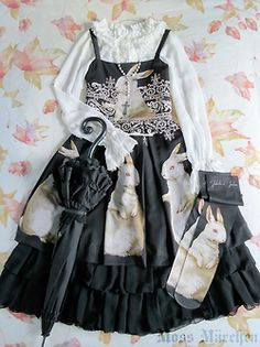 fashion style classic bunny rabbit fairy tale ootd alice and the pirates coord BtSSB Baby the Stars Shine Bright Victorian Maiden coordinate AatP vm Juliette et Justine brothers grimm jetj fat bunnies