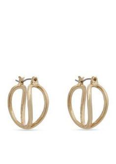 Erica Lyons  Essential Small Double Helix Hoop Earrings
