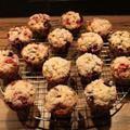 Sugar-Crusted Raspberry Blueberry Muffins