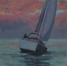 Last tack to Lamlash Isle Of Arran, Art Paintings, Tack, Painting Art, Art Drawings