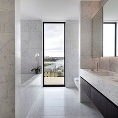 An integrated approach to design Potts point Sydney SJB architects #beinspired #contemporary #minimalism #interiordesign #marble #bathroomdesign #views #sydney #contempoperth