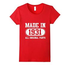 85th Birthday Gift Present Year 1934 All Original Parts Funny Unisex T-Shirt